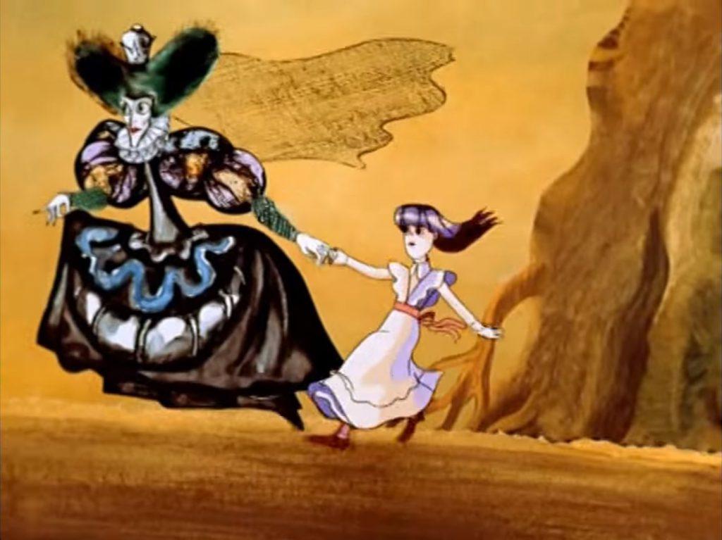 Бежать со всех ног, чтобы оставаться на месте. Кадр из м/ф «Алиса в Зазеркалье» (1982, Ефрем Пружанский).