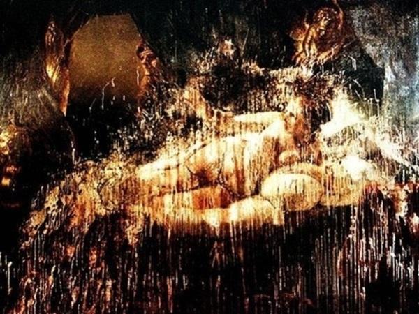 """Рембрандт """"Даная"""", 1636 (после атаки, до реставрации)"""