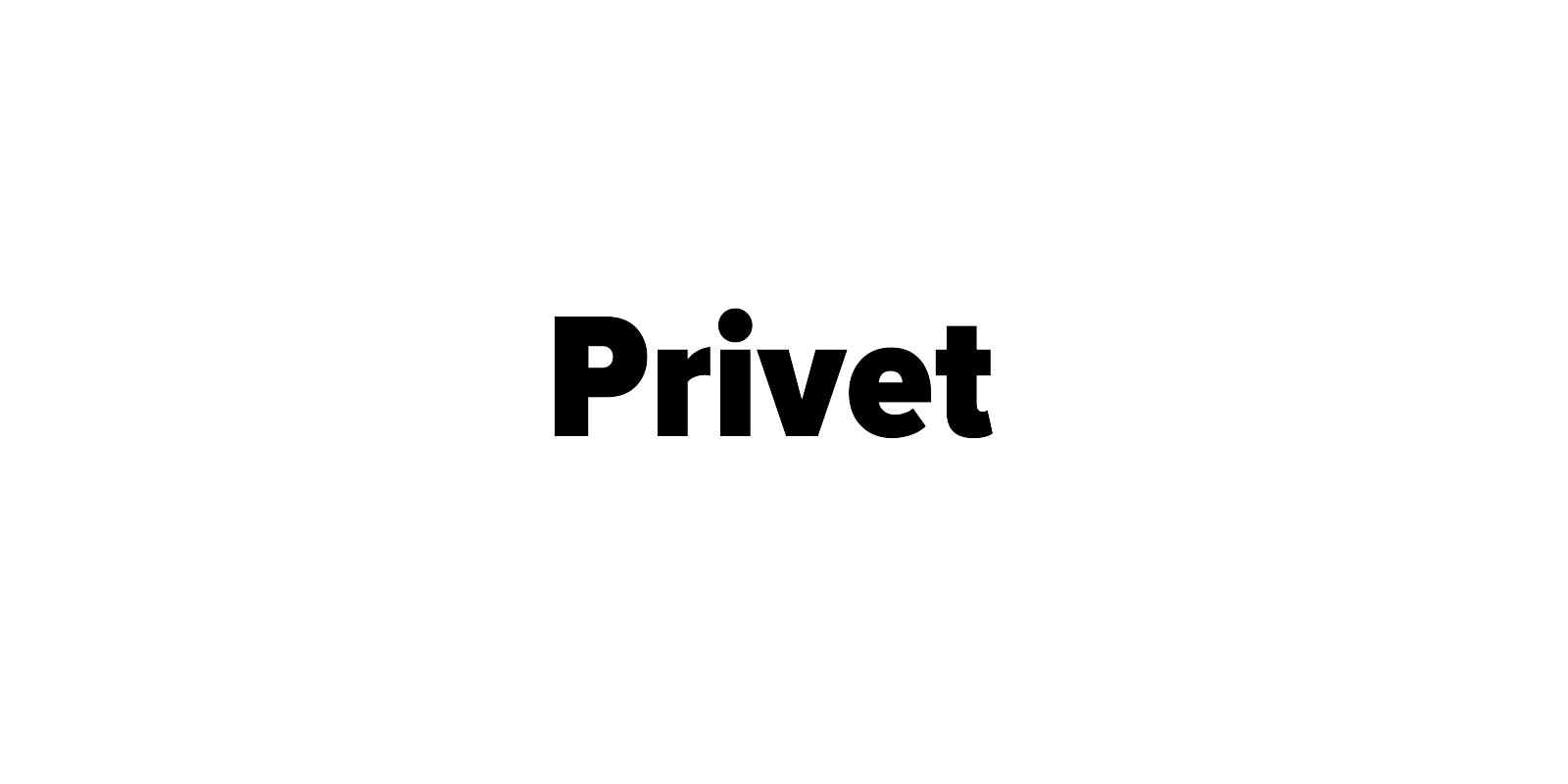 "Natural Mono Regular ""Privet"" на белом фоне. Ратников Марк"