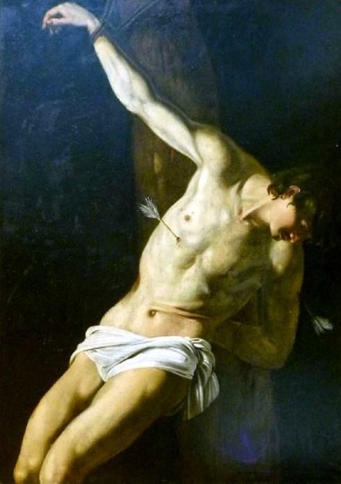 """Орацио Джентилески, """"Святой Себастьян"""", XVII в."""