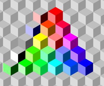 Рисунок 41. 55 базовых цветов дискурсивной модели цвета.