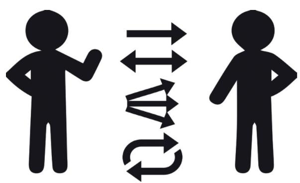 Рисунок 2. Формы коммуникации между институцией/художником и участником.