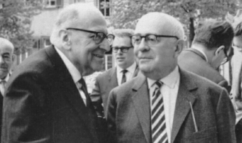 <i>Макс Хоркхаймер и Теодор Адорно</i>