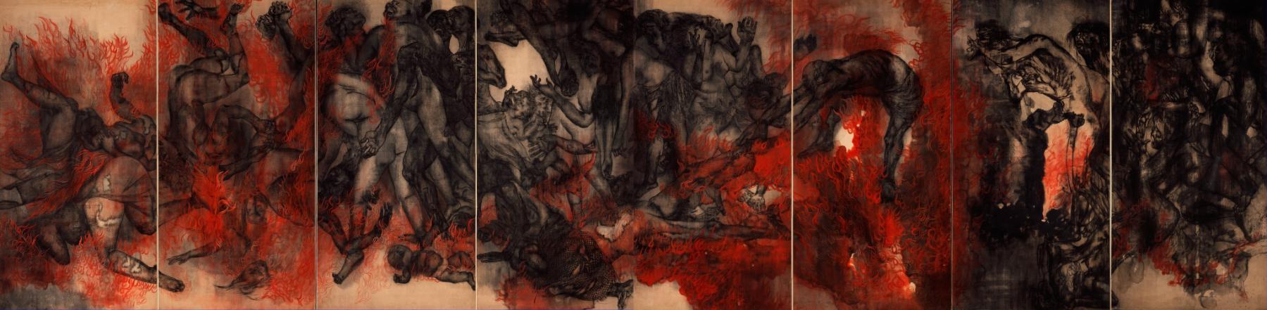 """Ири и Тосико Маруки. """"Огонь"""". 1950 год."""