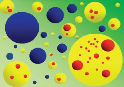 Инфляционная мультивселенная. Пузыри с разными свойствами образуются и расширяются на высокоэнергетическом фоне. Мы живем