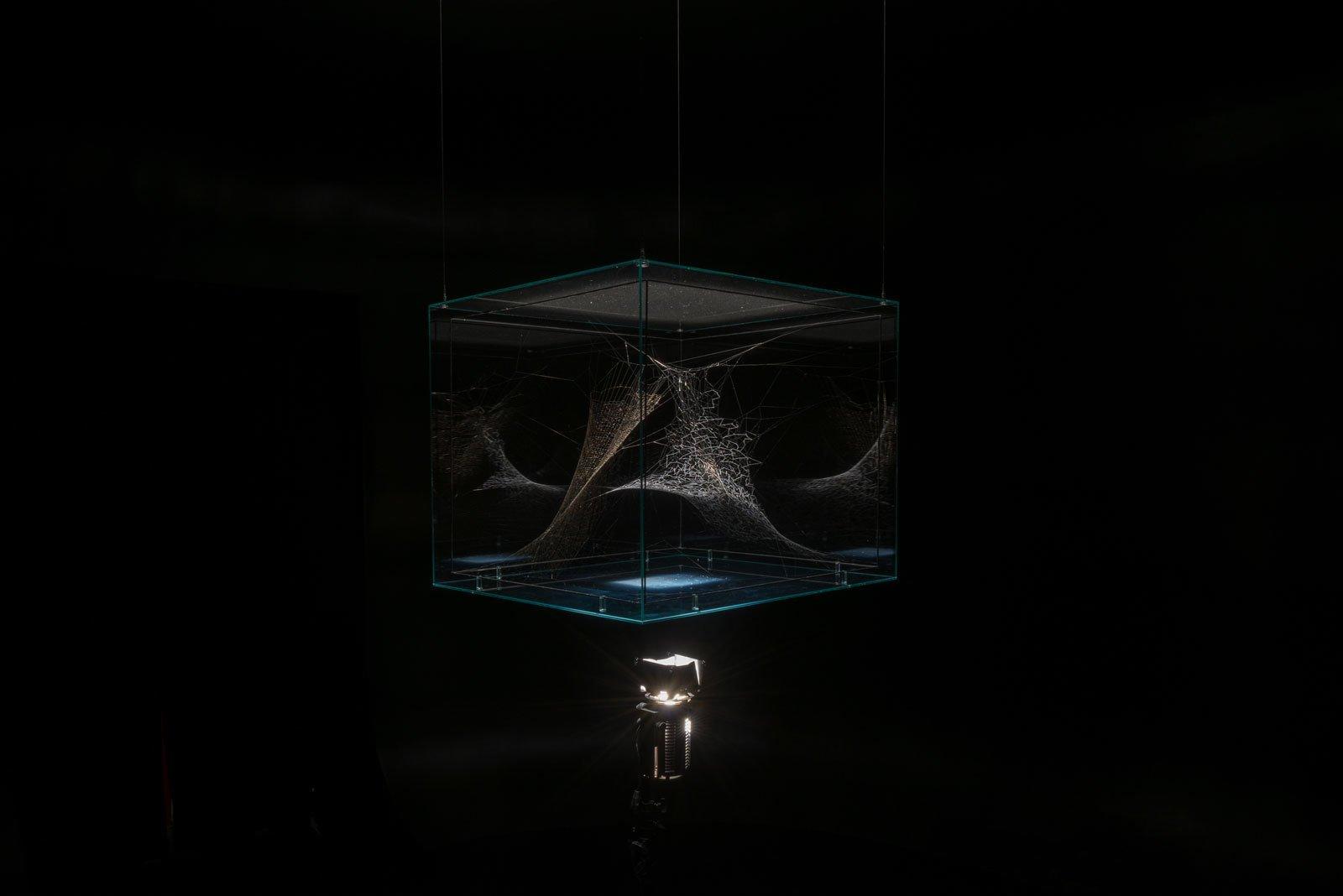 """Фотография инсталляции Томаса Сарасено, """"Паучьи концерты"""". <a>Источник</a>."""