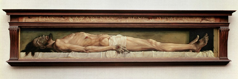 <i>«Мертвый Христос в гробу», Ганс Гольбейн Младший, 1521-1522, Швейцария.</i>