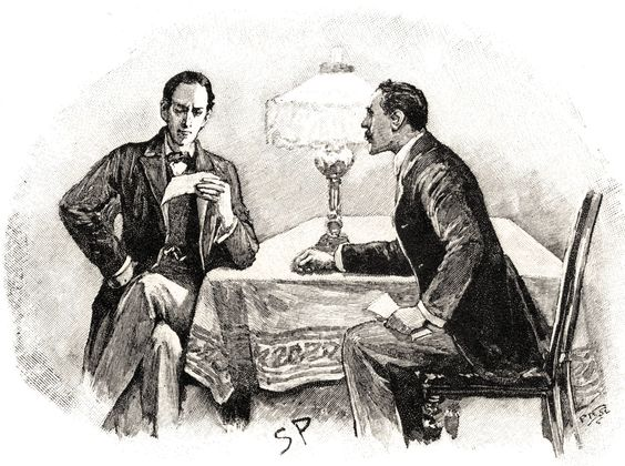 Из классических иллюстраций Сидни Пэджета к рассказам о Шерлоке Холмсе