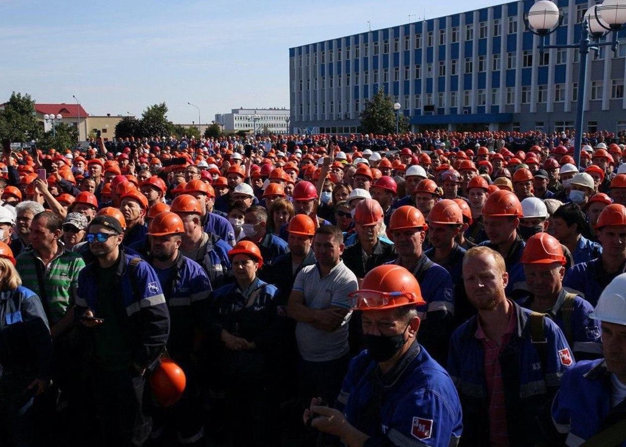 Забастовка на Гродноазот в Беларуси, 2020. Фото: Tut.by