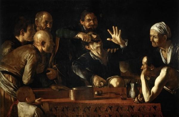 Микеланджело де Караваджо Зубодер (1609) Холст, масло, 194,5x139,5 см Палаццо Питти, Флоренция