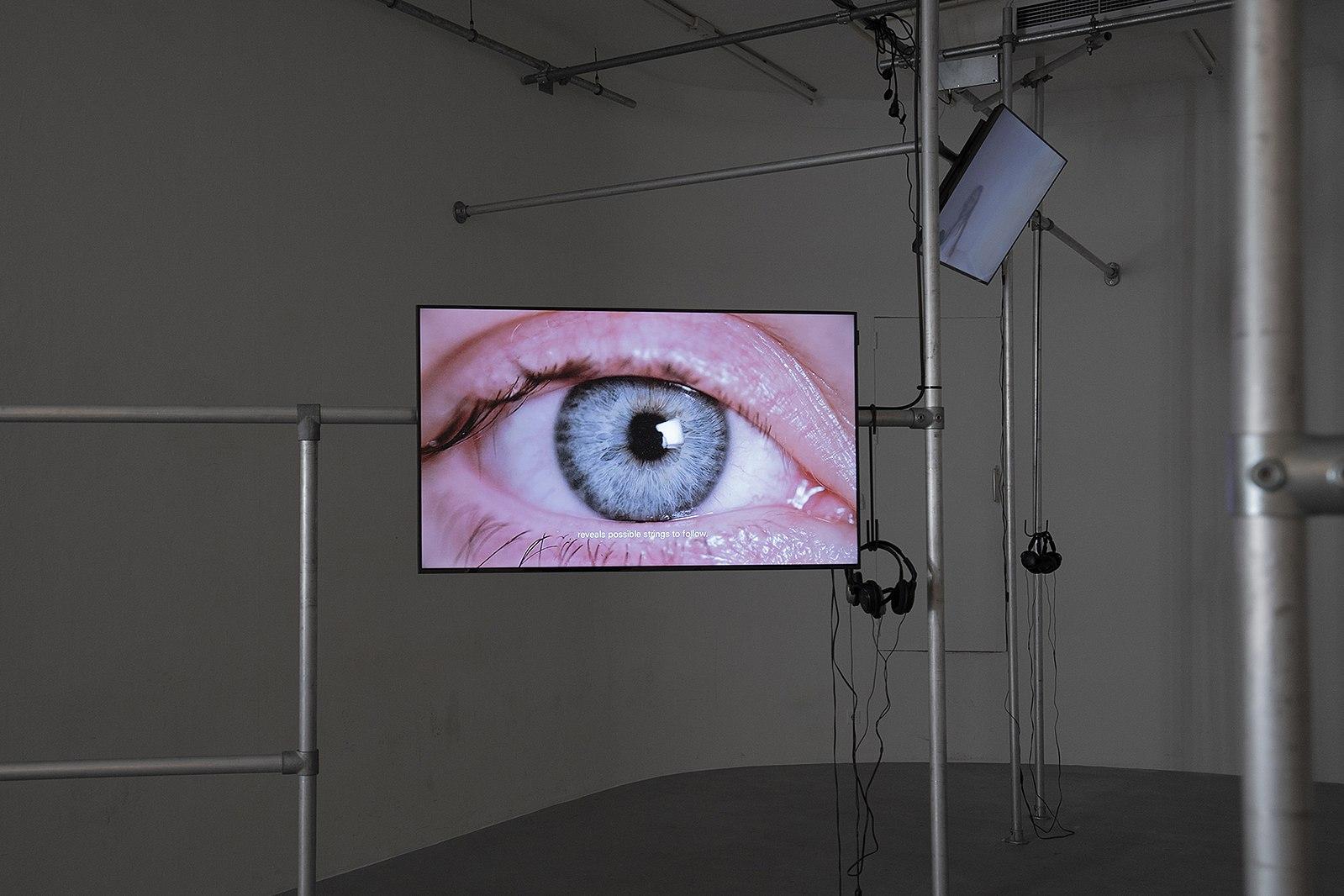 fig.4: Film Air Kiss. Five-channel video installation on festival Ipakt, Utrecht, Netherlands. 2018