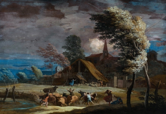 Риччи М. «Пейзаж в бурю». Будапешт, Музей изобразительных искусств