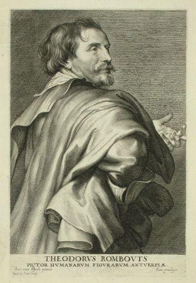 Теодор Ромбоутс Гравюра Паулюса Понтиуса (1603-1658)