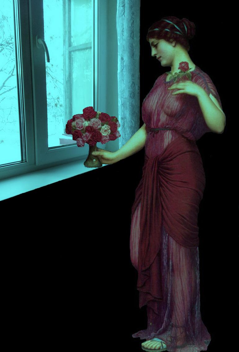В рамках картины Джона Уильяма Годварда «Подношение Венере».