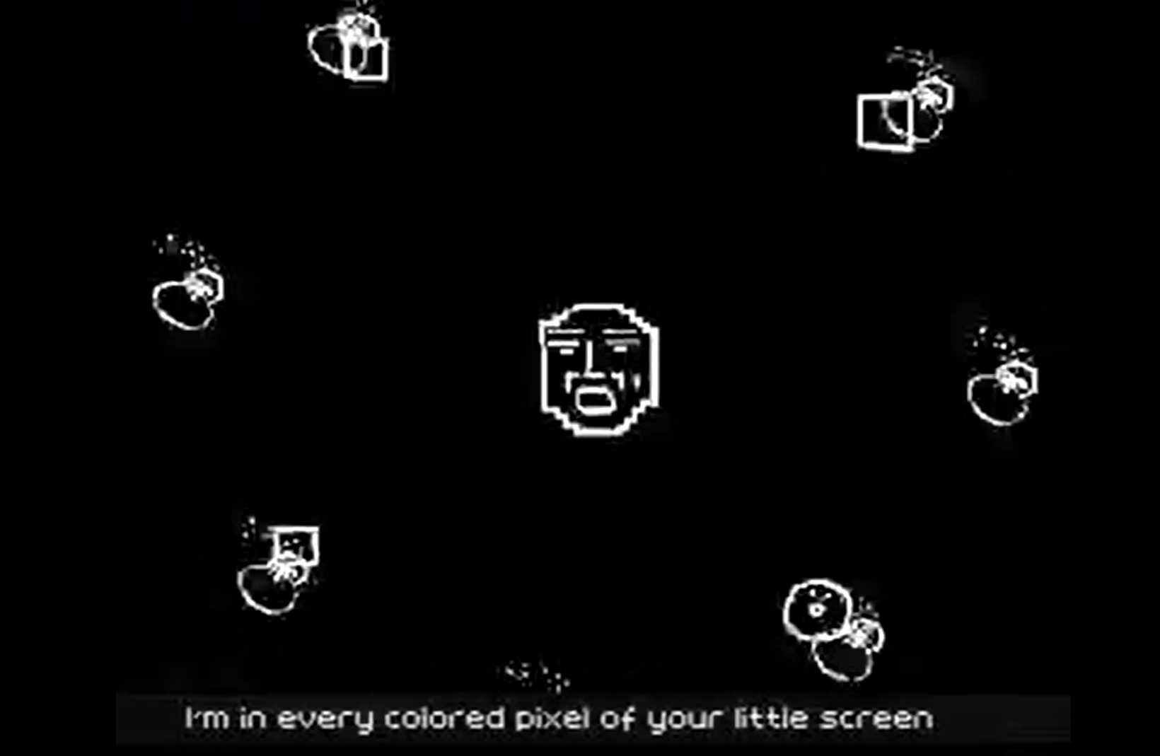 "Кадр из видео ""I'm net artist"" by area3.net"