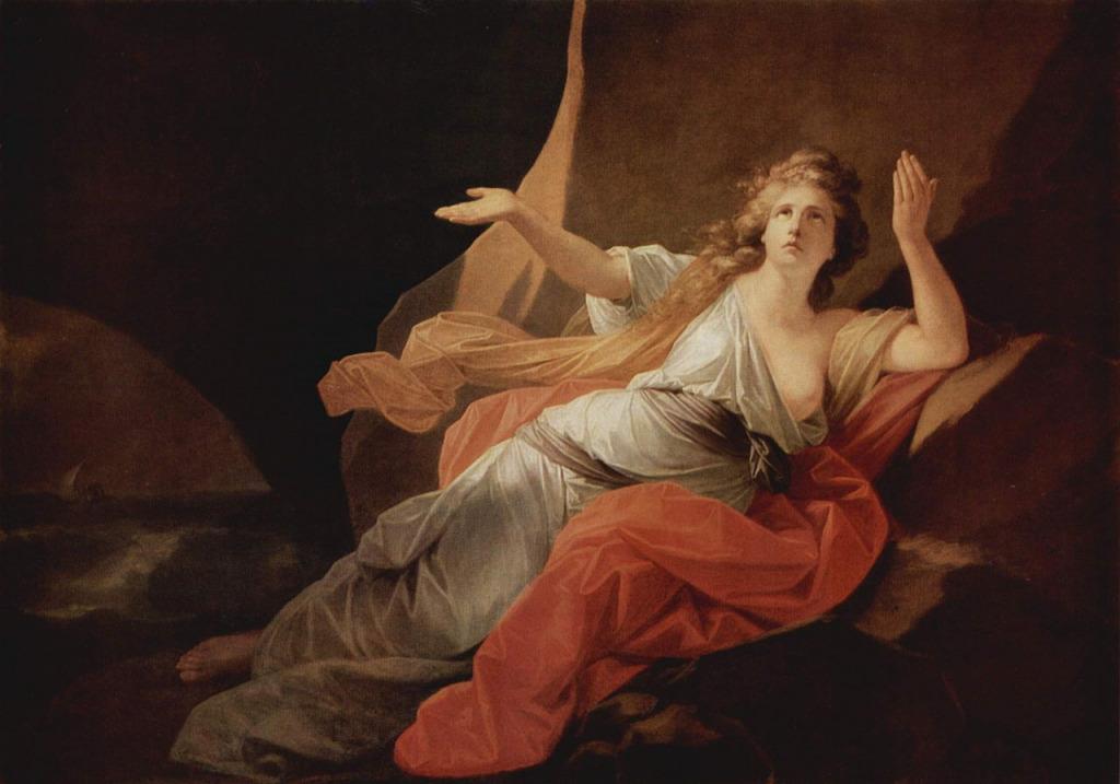 Фюгер, Генрих Фридрих Смерть Дидоны (1792). Холст, масло. 154х220 см. Государственный Эрмитаж