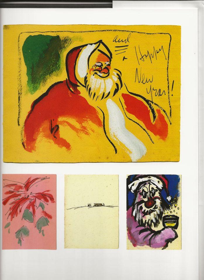 Добродушные и веселые новогодние сюжеты на поздравительных открытках, сделанных режиссером своими руками