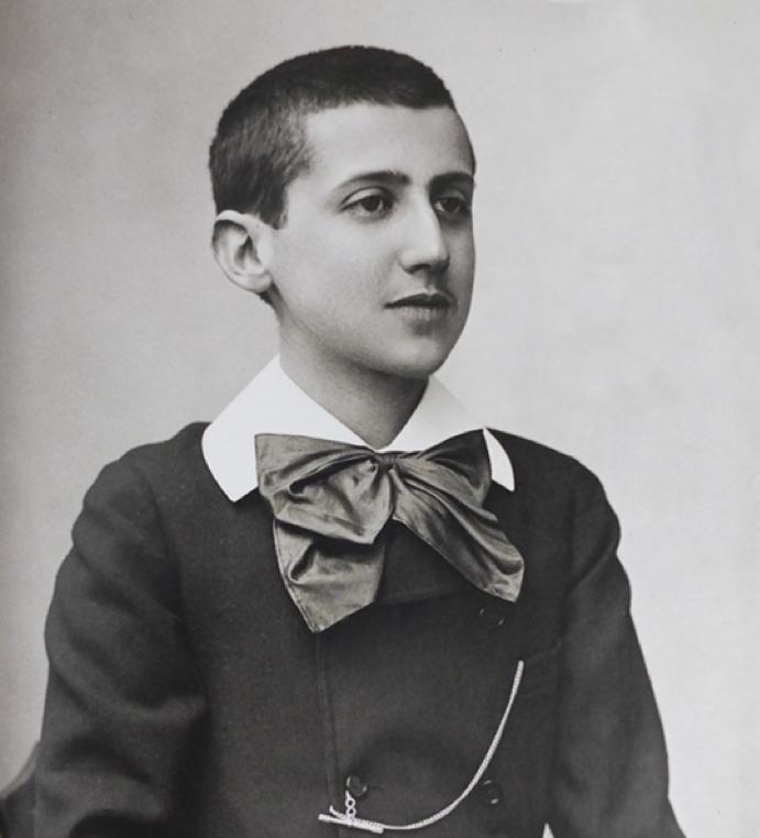 Фотография 15-летнего Пруста в 1887, сделанная Полом Надаром