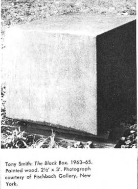 Тони Смит. Черная коробка. 1963–65. Крашеное дерево.