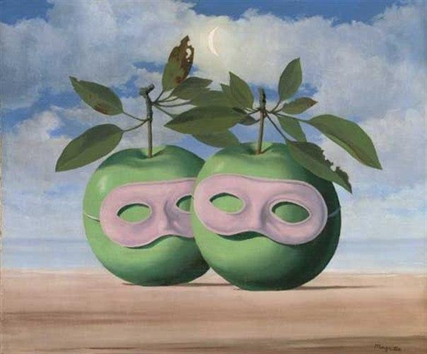 René Magritte - Les Pommes Masquées