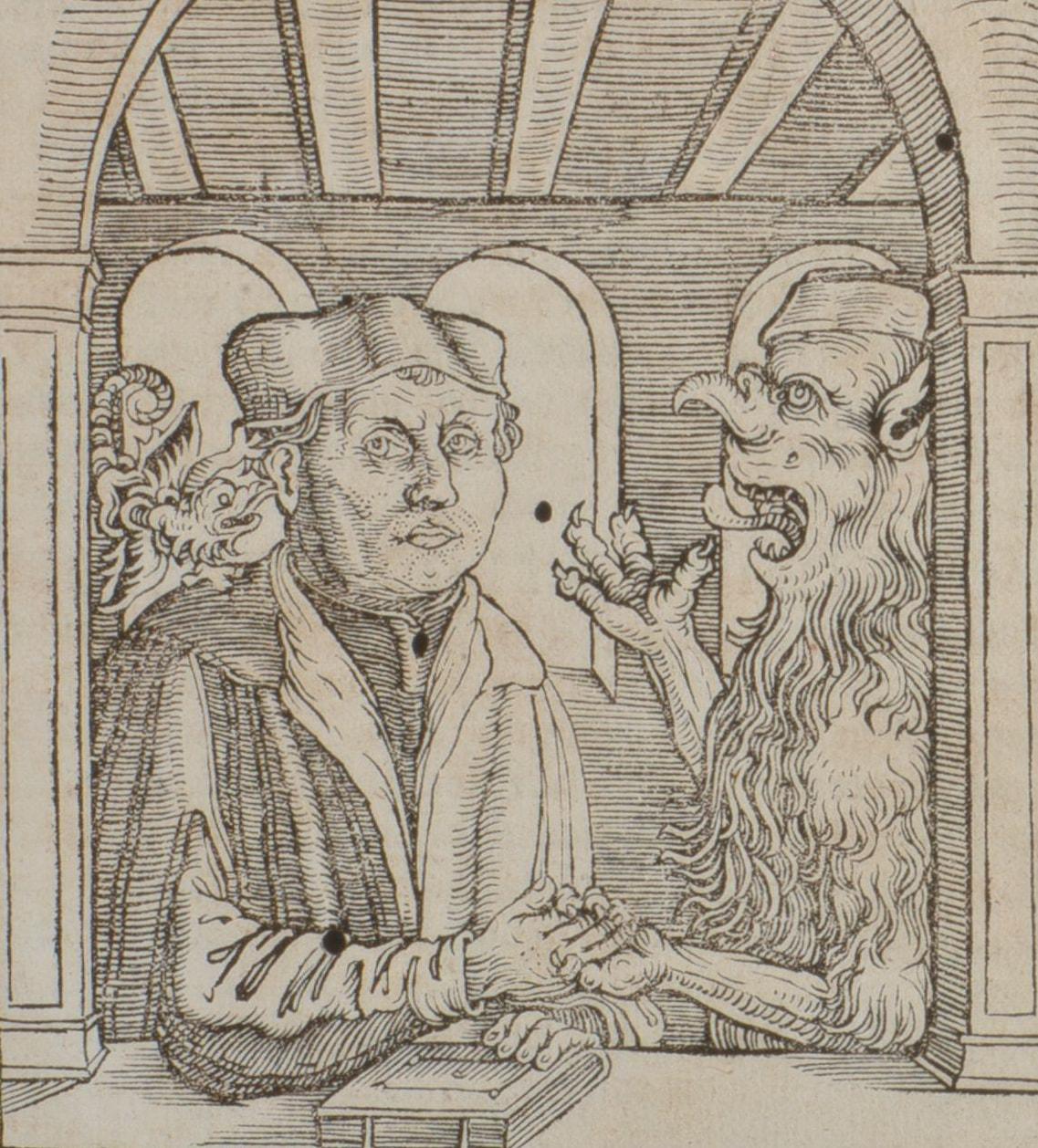 11. Петр Сильвий. Единение Лютера и Люцифера. Лейпциг, 1535.