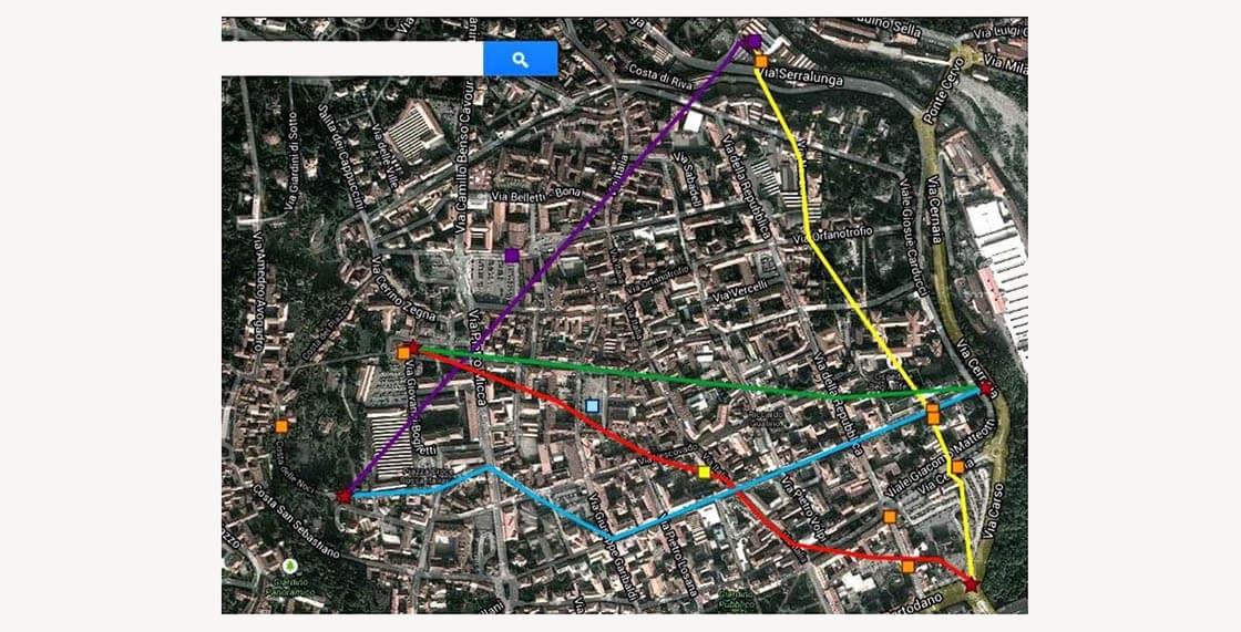 «Звездный проспект-1»: приблизительная карта. Бьелла, Италия, 2013