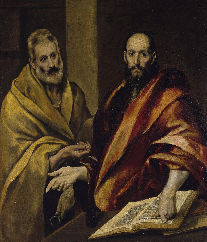 «Апостолы Пётр и Павел» / «Sant Pere i Sant Pau», автор – Эль Греко (ок. 1587—1592 г.)