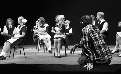 Кадр с репетиции «Я (не) уеду из Кирова». Фото: архив Театра на Спасской