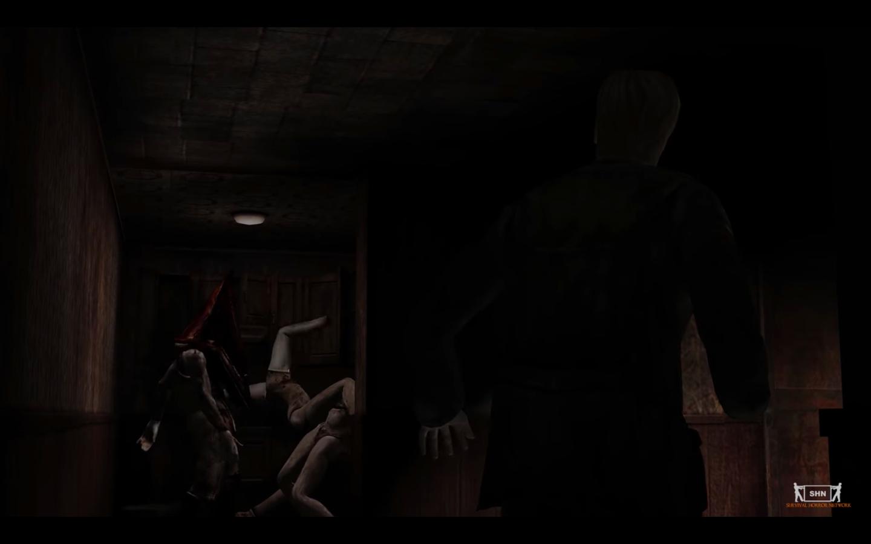Самый известный пример — сцена, которая открывается Джеймсу, когда он входит в комнату 307