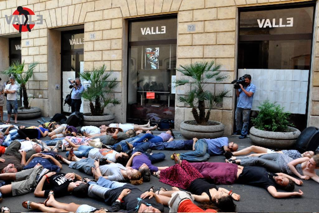 Оккупирование Театра VALLE, Рим, 2011.