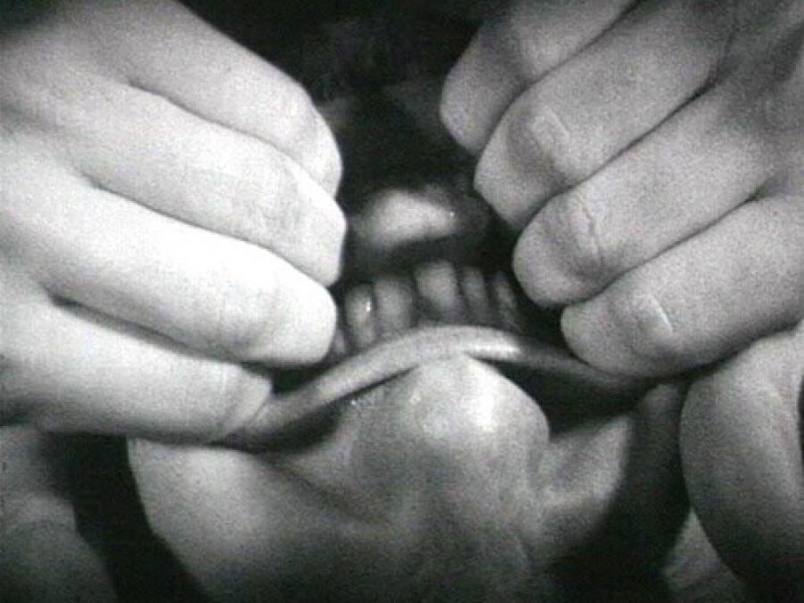 Bruce Nauman. Pulling Mouth (1969)