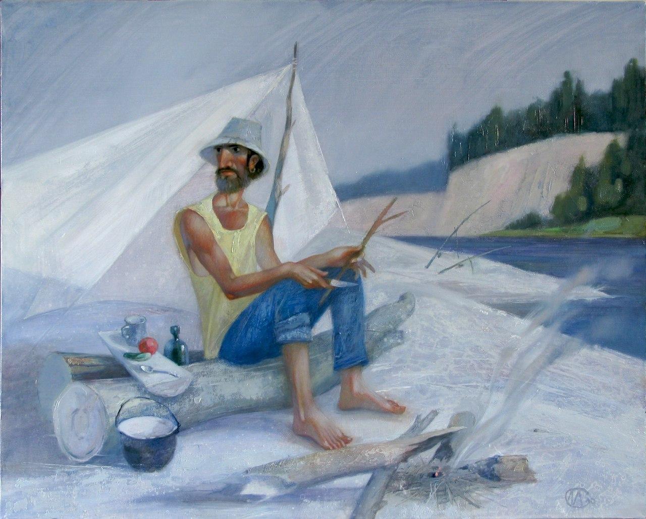 «Большая вода». Холст, масло. 80 х 100. 2010.