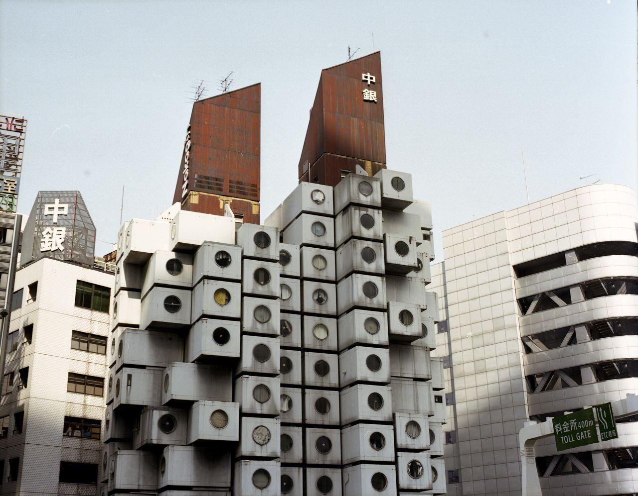 Капсульная башня Накагин, Токио. Кисё Курокава