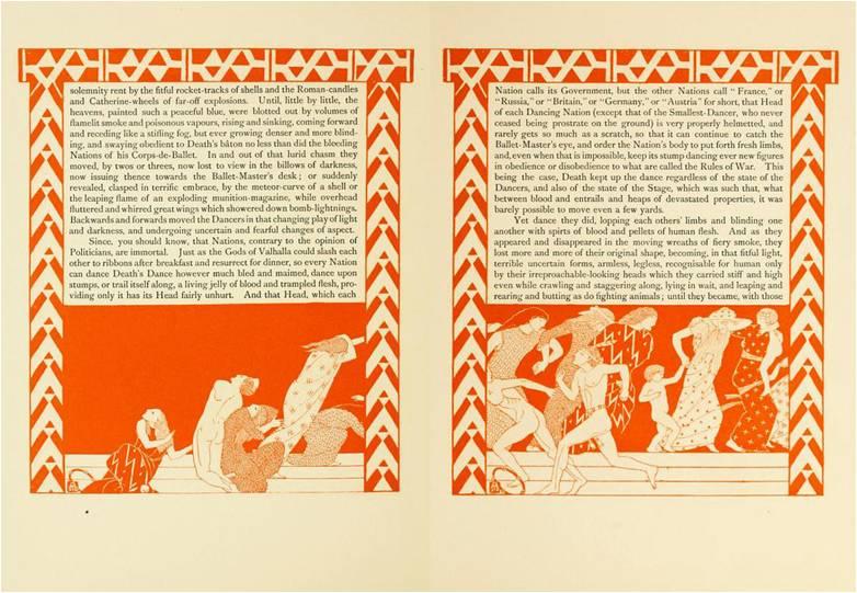 """Макс Армфильд Иллюстрации к страницам 13-14 """"Балета наций"""" (1915)"""