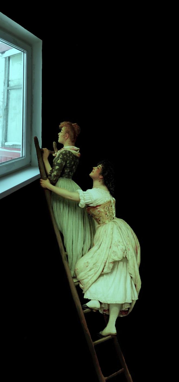 В рамках картины Эжена де Блааса «Любопытство».