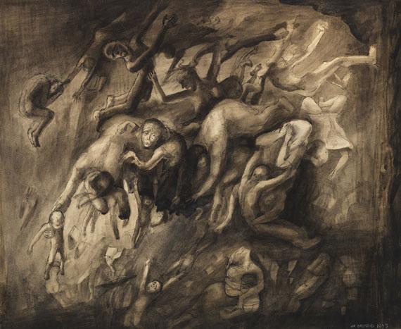 """Lea Grundig """"In den Abgrund"""", 1943."""