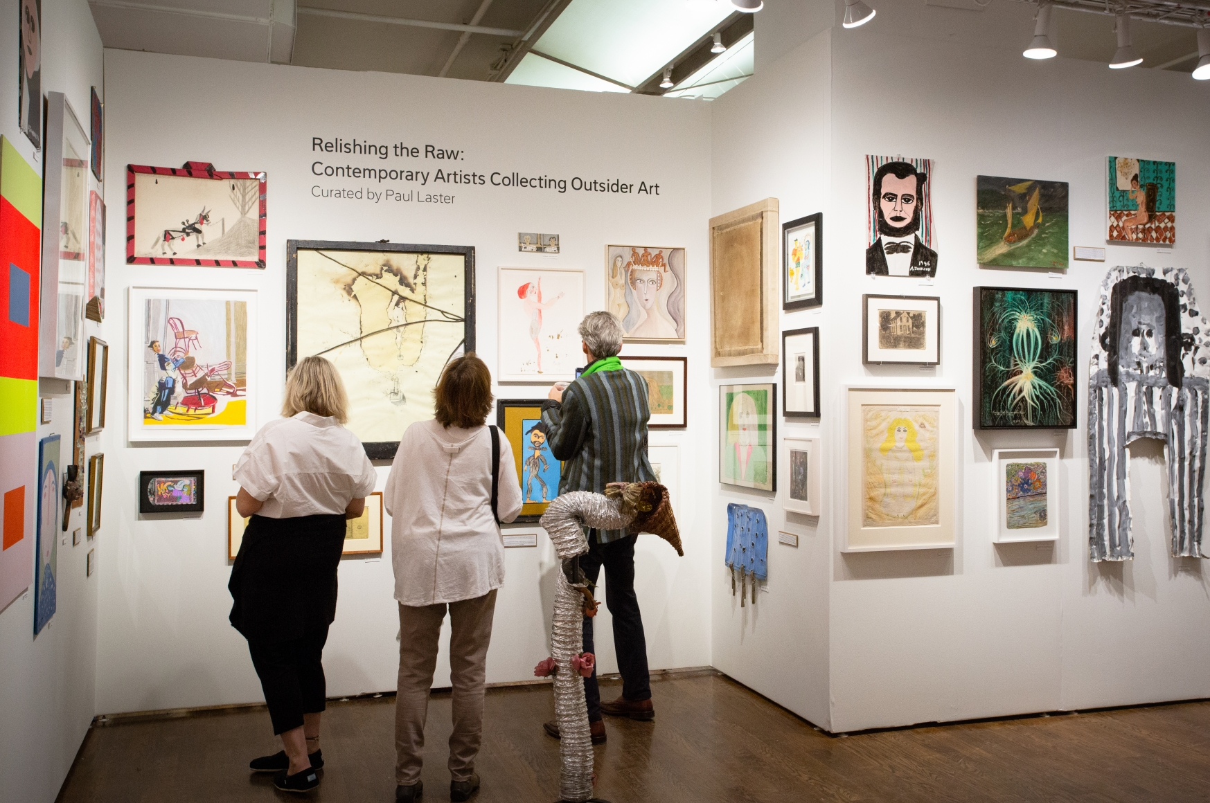 OAF Curated Space: Relishing the Raw: Contemporary Artists Collecting Outsider Art, Outsider Art Fair New York 2020 (inst