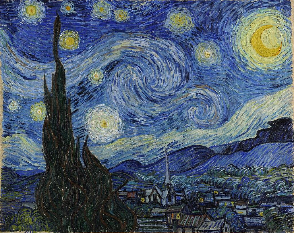 "Ван Гог - ""Звёздная ночь""."