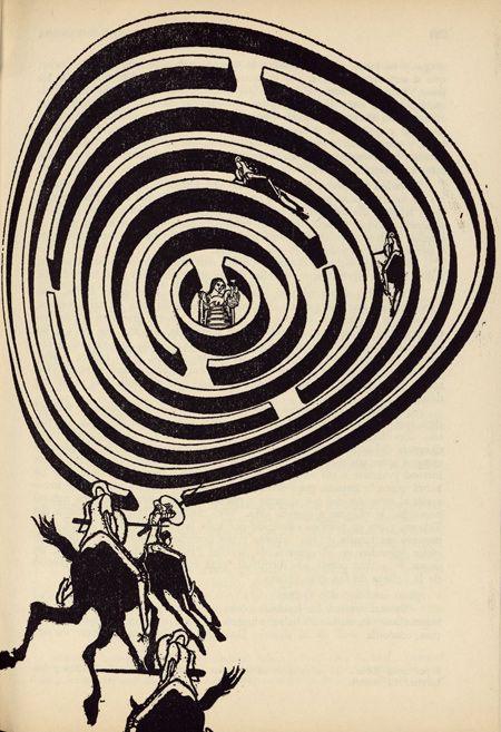 Роберто Паэс. Иллюстрация к аргентинскому изданию «Дон Кихота». 1969