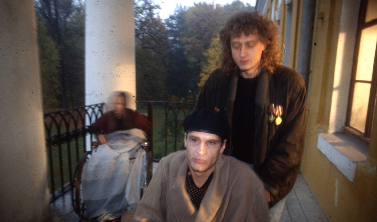 Георг Фризен и Денис Карасев на съемках фильма