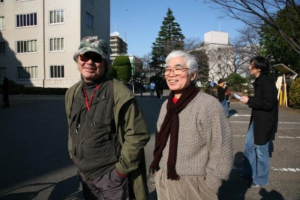 Вакамацу и Адачи, после окончательного освобождения из заключения в японской тюрьме