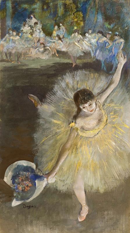 «Завершающий арабеск». Художник-импрессионист, Эдгар Дега. 1877