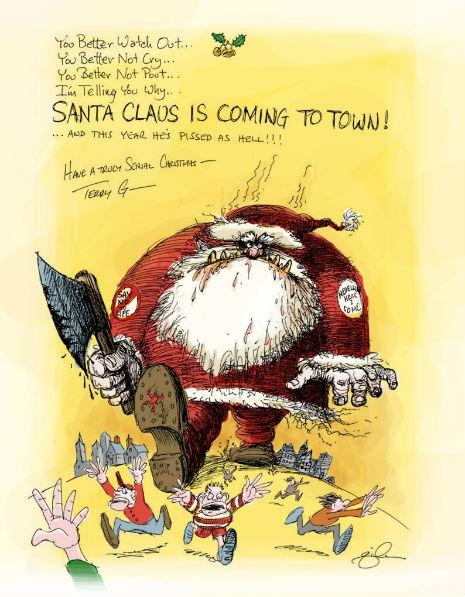 Рождественская карикатура из профиля Терри Гиллиама в«Instagram», 2011 г.