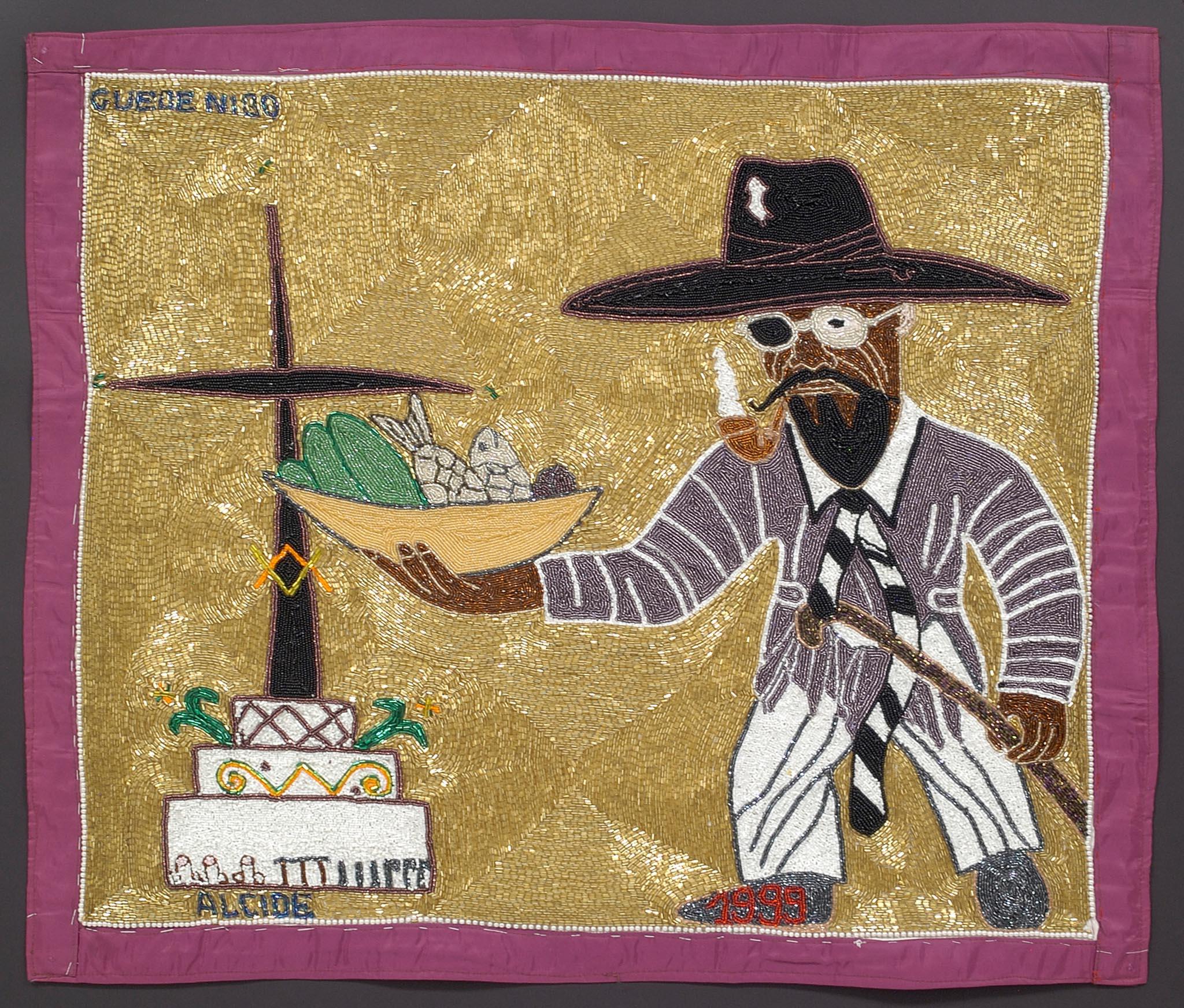 Геде Ниббо. Ритуальный флаг. Источник:https://haitianartsociety.org/marilyn-houlberg-collection