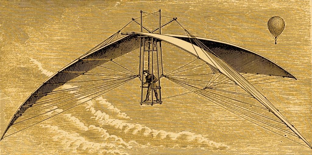 Летательный аппарат «орнитоптер» Леонардо да Винчи