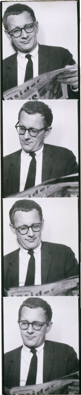 <i>«New Faces, New Forces, New Names in the Arts» (1963). Donald Barthelme by Andy Warhol</i>