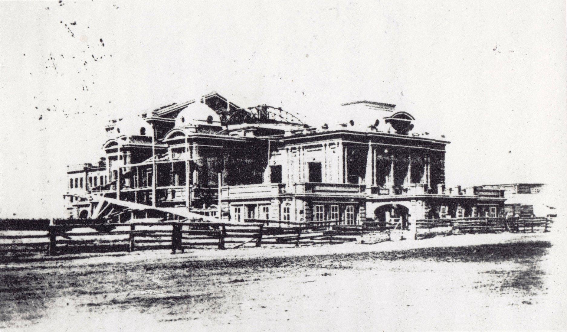 Строящееся здание театра, 1904 г.