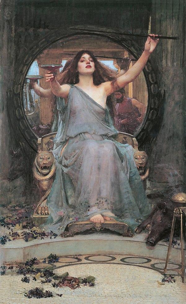 Джон Уильям Уотерхауз. Цирцея предлагает чашу Одиссею. 1891