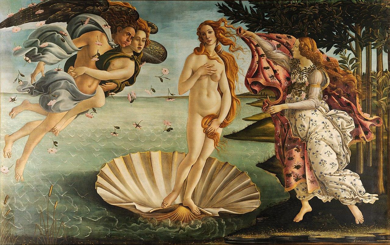Сандро Боттичелли. Рождение Венеры. 1482—1486. Уффици, Флоренция⠀