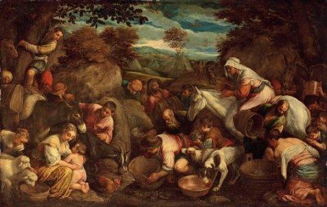 Якопо Бассано совместно с мастерской Чудо изведения воды из скалы Холст, масло. 100×152,5 см6 декабря 2011 г., Лондон, ау